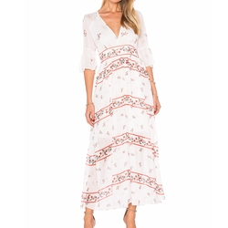 V Neck Floral Maxi Dress by Endless Rose in Ingrid Goes West