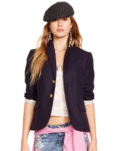 Wool Two-Button Blazer by Polo Ralph Lauren in Bridesmaids