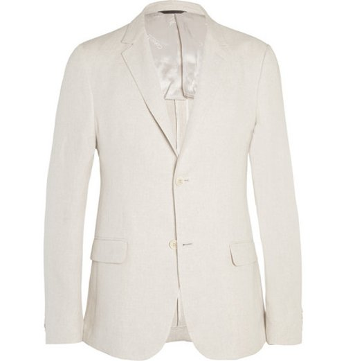 Stone Thompson Slim-fit Linen Suit Jacket by Calvin Klein Collection in Sex and the City 2