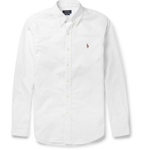 Slim-Fit Cotton Oxford Shirt by Polo Ralph Lauren in The Bourne Ultimatum