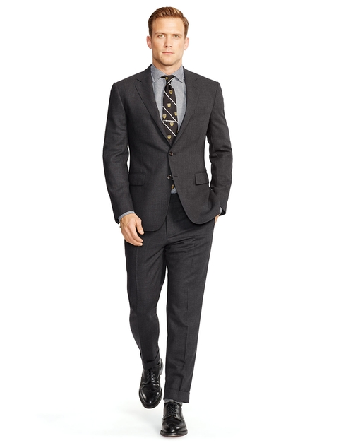 Bedford Birdseye Wool Notch Lapel Suit by Ralph Lauren in Elementary