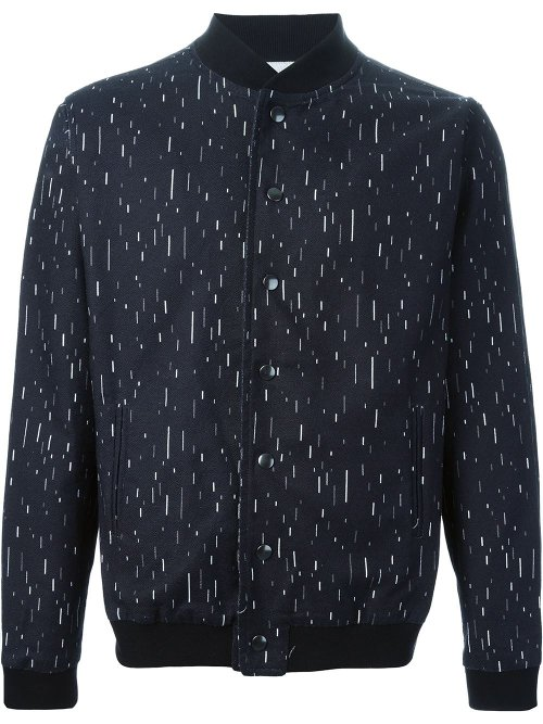 Line Printed Bomber Jacket by Pigalle in Birdman