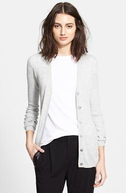 Skinny Rib Cardigan by Vince in No Strings Attached