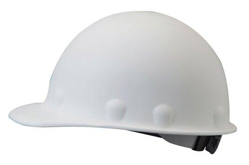 Fiberglass Hard Hat w/ Ratchet Suspension, White by Fibre-Metal in Transcendence