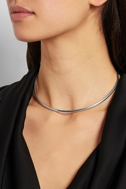 Silver Choker Necklace by Maison Margiela in Supergirl