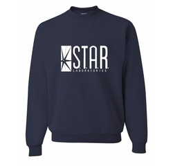 Star Labs Sweatshirt Crewneck Sweater by Go All Out Screenprinting in The Flash