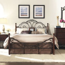 Belvedere Metal 4-Poster Bed by JC Penney in Wild
