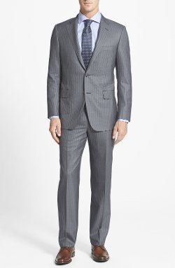 'Beacon' Classic Fit Stripe Suit by Hickey Freeman in John Wick