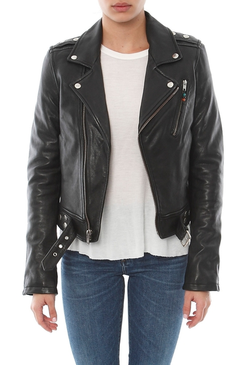Moto Leather Jacket  by BLK DNM  in Keeping Up With The Kardashians - Season 11 Episode 4