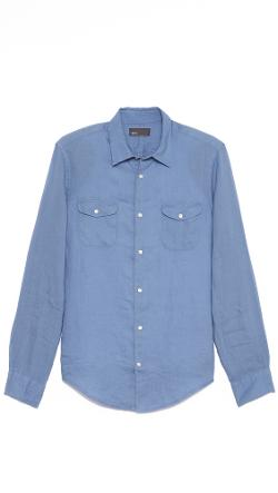 Linen Sport Shirt by Vince in What If