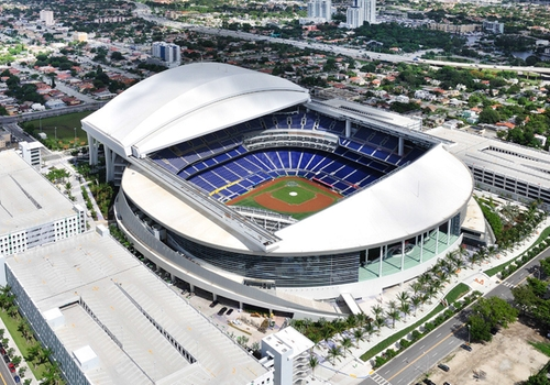 Marlins Park Miami, Florida in Ballers - Season 1 Episode 9 - Head-On