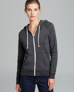 Adrian Zip Up Hoodie by Alternative in Miss You Already