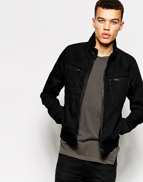 Arc Zip Denim Jacket by G Star in Cut Bank