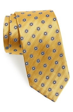 Medallion Silk Tie by J.Z. Richards in Elementary
