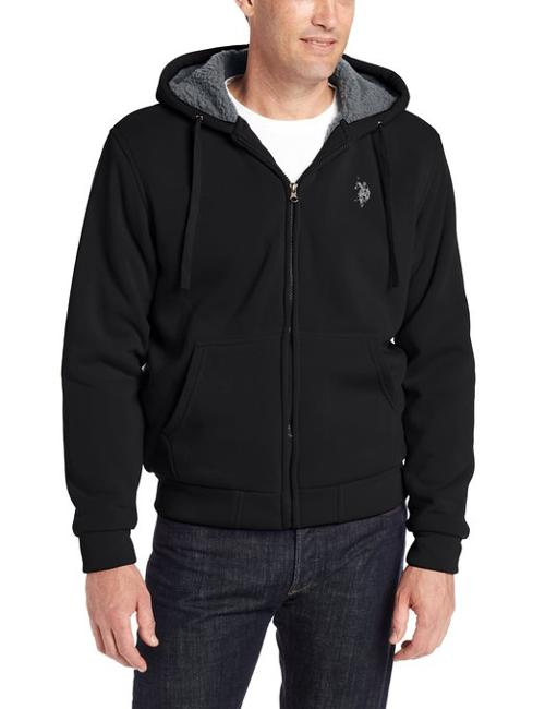 Hoodie with Nubby Polar Fleece Lining by U.S. Polo Assn in Let's Be Cops