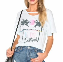 Do Not Disturb Tee by Wildfox Couture in Ingrid Goes West