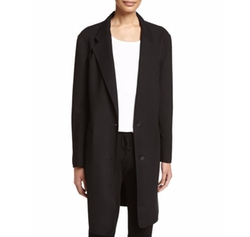 Long Tailored Wool-Blend Coat by DKNY in Power
