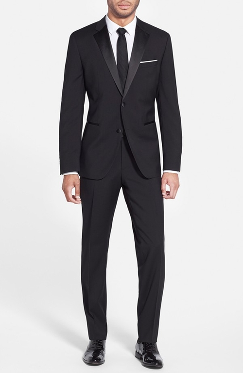 'The Stars 75/Glamour 3' Wool Tuxedo Suit by Boss in Arrow - Season 4 Episode 7