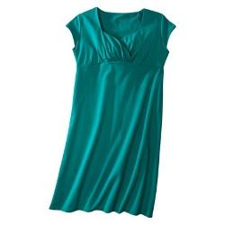 Short-Sleeve Twist-Front Blue Green Pinup Dress by Mossimo in Tammy