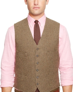 Merino Wool Tick-Weave Vest by Ralph Lauren in The Mindy Project