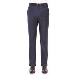 Parker Platinum Flat-Front Trousers by Zanella in Molly's Game