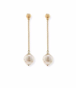 Sands of Time Pendulum Pearly Drop Earrings by Lele Sadoughi in Jane the Virgin
