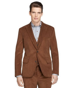 Own Make Three-Piece Corduroy Suit by Brooks Brothers in Anchorman 2: The Legend Continues