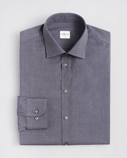 Textured Solid Dress Shirt by Armani Collezioni in Fifty Shades of Grey