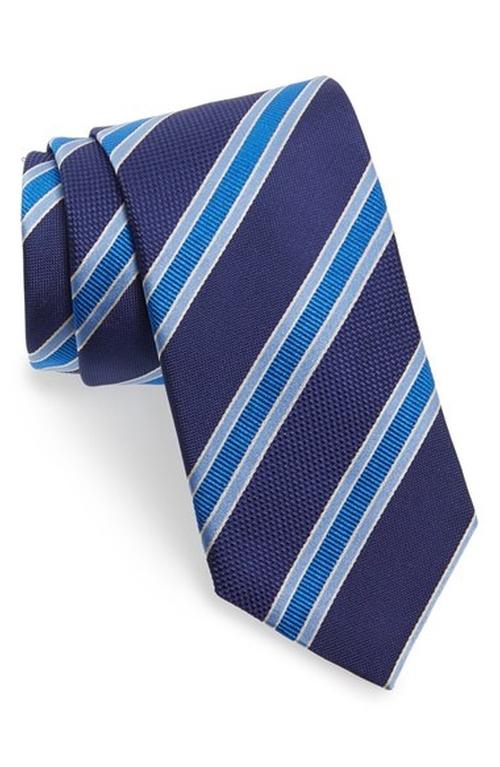 Stripe Silk Tie by David Donahue in Supernatural - Series Looks