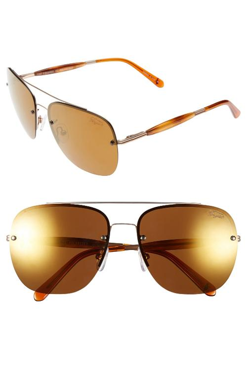 The Edwards 60mm Polarized Aviator Sunglasses by Original Penguin in St. Vincent
