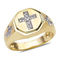 Diamond Cross Ring by Nissoni Jewelry in Begin Again