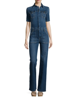 Le Mechanic Flare Jumpsuit by Frame Denim  in Keeping Up With The Kardashians