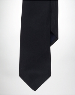 Solid Silk Repp Tie by Ralph Lauren in Legend