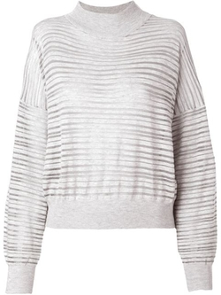 Striped Fine Knit Sweater by Dagmar in Whiskey Tango Foxtrot
