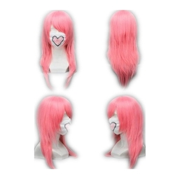 Medium Straight Pink Anime Wig by Cosplaza in Jem and the Holograms