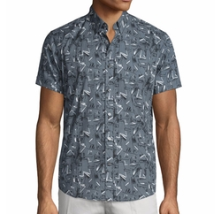 Coppolo Printed Short-Sleeve Shirt by Theory in Going In Style