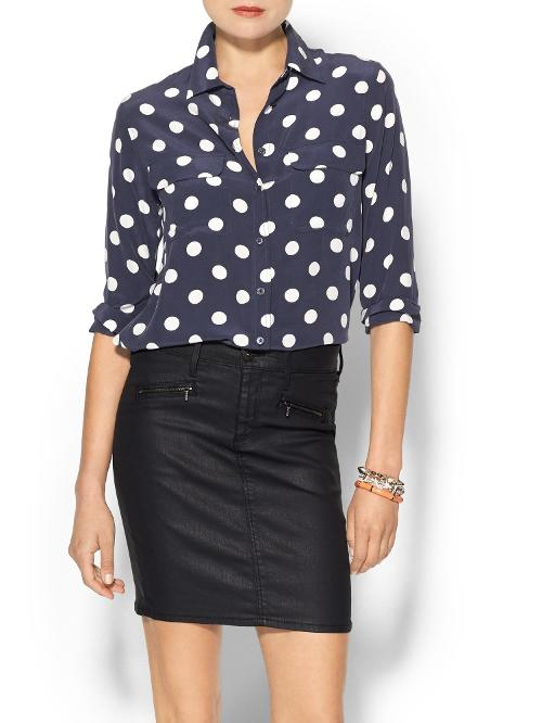 Slim Signature Blouse by Equipment in The Disappearance of Eleanor Rigby