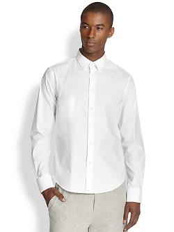Solid Cotton Sportshirt by Vince in Yves Saint Laurent