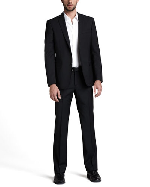 City Fit Basic Suit by Versace Collection in Mike and Dave Need Wedding Dates