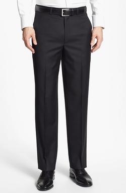 Flat Front Wool Trouser Pants by Santorelli in Ballers