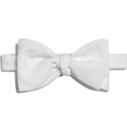 Cotton Pique Bow Tie by Turnbull & Asser in Scandal