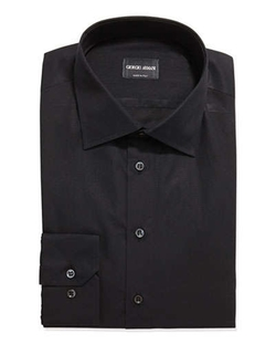Solid Poplin Dress Shirt by Giorgio Armani	 in The Loft