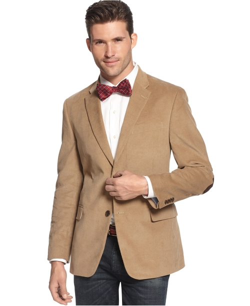 Solid Corduroy Sport Coat by Tommy Hilfiger in Rosewood - Season 1 Episode 10