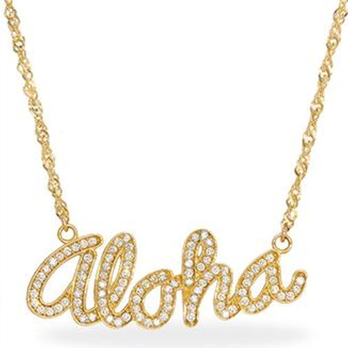 Aloha Necklace With Diamonds by Maui Divers Jewelry in Pretty Little Liars - Season 6 Episode 12