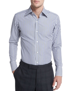 High Definition Striped Dress Shirt by Tom Ford in Ballers
