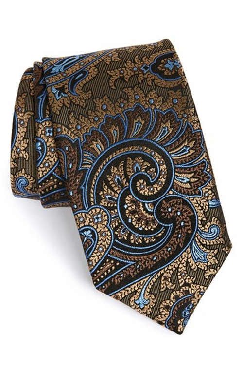 Paisley Silk Tie by J.Z. Richards in Midnight Special