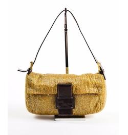 Beaded Baguette Shoulder Bag by Fendi in Empire