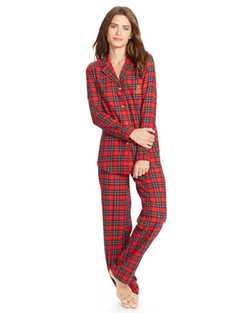 Plaid Cotton Pajama Set by Ralph Lauren in The Mindy Project