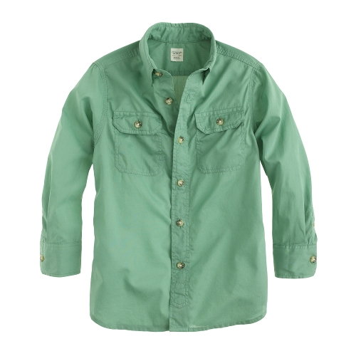 Secret Wash Utility Shirt by J.Crew in Sinister 2