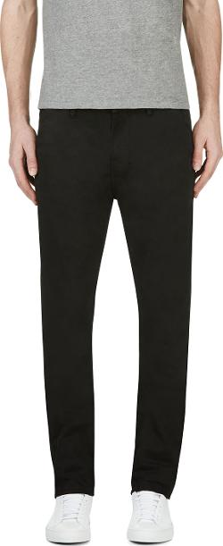 Black Organic Slim Khakis by Nudie Jeans in Step Up: All In